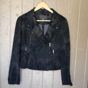 Anthropologie Marrakech camo moto jacket